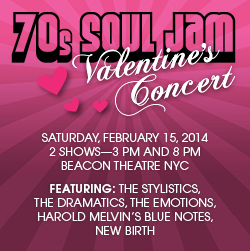 enter to win 2 free tickets to the 70s soul jam valentines concert in new york city 70s soul jam will feature artists such as the stylistics