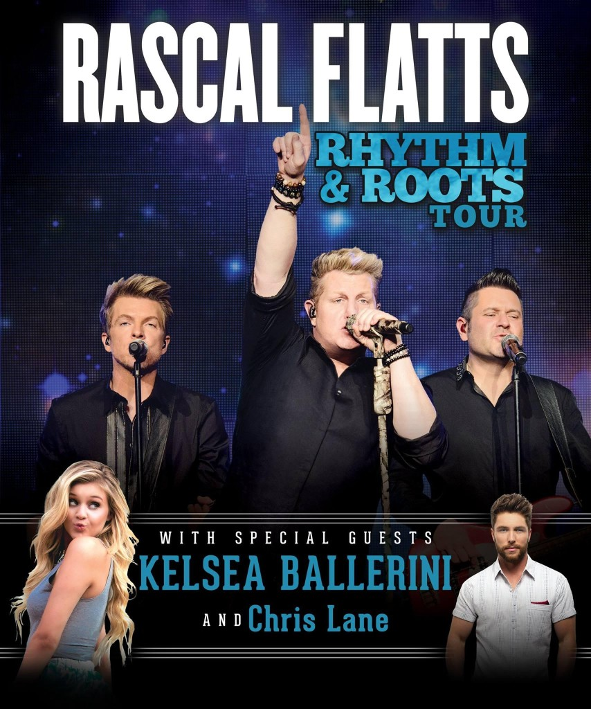 RASCAL FLATTS' RHYTHM & ROOTS TOUR FLYER